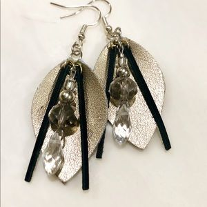 Genuine Leather Earrings with Beautiful Details
